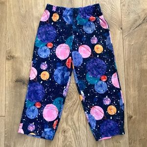Girls Blue Galaxy Soft Polyester Pajama Pants NWT